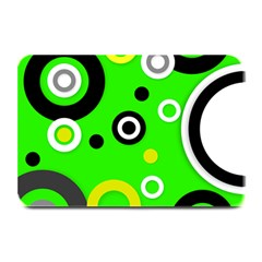 Florescent Green Yellow Abstract  Plate Mats by OCDesignss