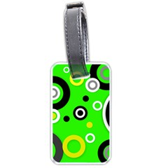 Florescent Green Yellow Abstract  Luggage Tags (two Sides) by OCDesignss