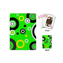 Florescent Green Yellow Abstract  Playing Cards (mini)  by OCDesignss