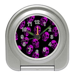 Purple Skulls  Travel Alarm Clocks