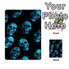 Skulls Blue Multi Purpose Cards (rectangle)  by ImpressiveMoments