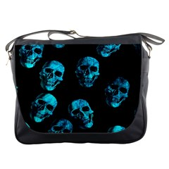 Skulls Blue Messenger Bags by ImpressiveMoments