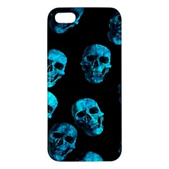 Skulls Blue Iphone 5s Premium Hardshell Case by ImpressiveMoments