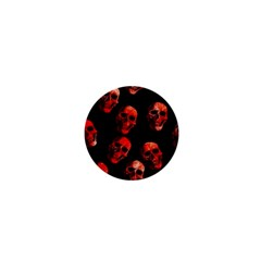 Skulls Red 1  Mini Buttons