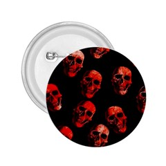 Skulls Red 2.25  Buttons