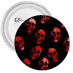 Skulls Red 3  Buttons