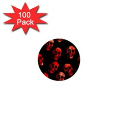 Skulls Red 1  Mini Buttons (100 pack)
