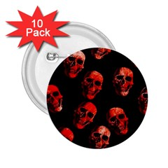 Skulls Red 2.25  Buttons (10 pack)