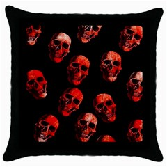 Skulls Red Throw Pillow Cases (Black)