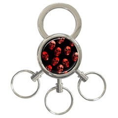 Skulls Red 3-Ring Key Chains