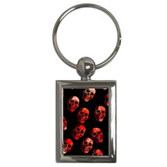 Skulls Red Key Chains (Rectangle)