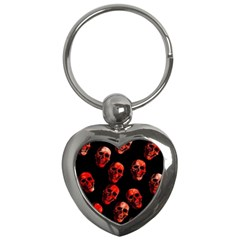 Skulls Red Key Chains (Heart)