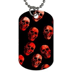 Skulls Red Dog Tag (Two Sides)