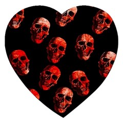 Skulls Red Jigsaw Puzzle (Heart)
