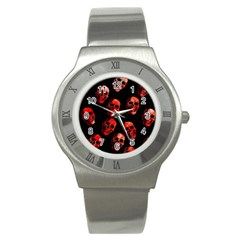 Skulls Red Stainless Steel Watches
