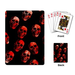 Skulls Red Playing Card