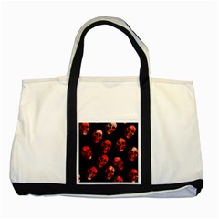 Skulls Red Two Tone Tote Bag