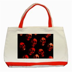 Skulls Red Classic Tote Bag (Red)