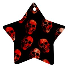 Skulls Red Star Ornament (Two Sides)