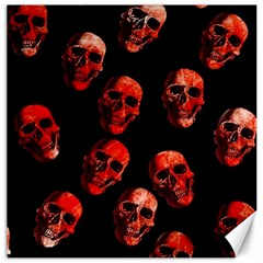 Skulls Red Canvas 16  X 16   by ImpressiveMoments