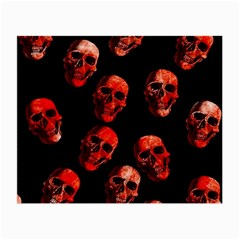 Skulls Red Small Glasses Cloth (2-Side)
