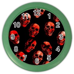 Skulls Red Color Wall Clocks by ImpressiveMoments