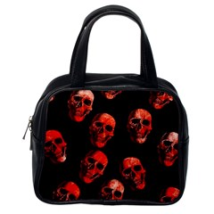 Skulls Red Classic Handbags (One Side)