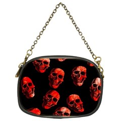 Skulls Red Chain Purses (One Side)