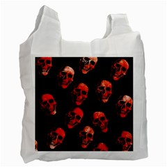 Skulls Red Recycle Bag (One Side)