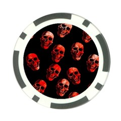 Skulls Red Poker Chip Card Guards (10 pack)