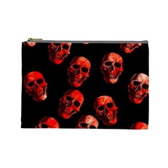 Skulls Red Cosmetic Bag (Large)