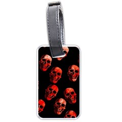 Skulls Red Luggage Tags (One Side)