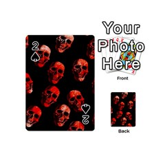 Skulls Red Playing Cards 54 (Mini)