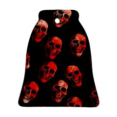 Skulls Red Bell Ornament (2 Sides)