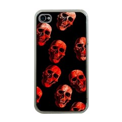 Skulls Red Apple iPhone 4 Case (Clear)
