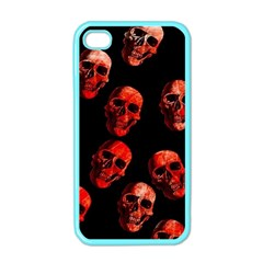 Skulls Red Apple iPhone 4 Case (Color)