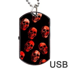 Skulls Red Dog Tag USB Flash (Two Sides)
