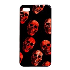 Skulls Red Apple iPhone 4/4s Seamless Case (Black)