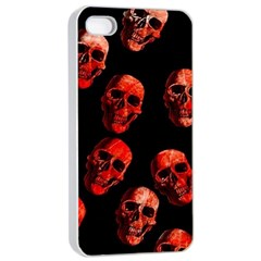 Skulls Red Apple iPhone 4/4s Seamless Case (White)