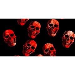 Skulls Red YOU ARE INVITED 3D Greeting Card (8x4)