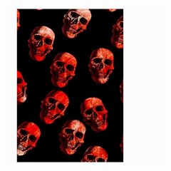 Skulls Red Small Garden Flag (Two Sides)