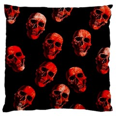 Skulls Red Large Cushion Cases (One Side)