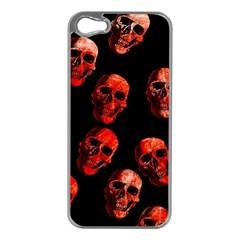 Skulls Red Apple iPhone 5 Case (Silver)