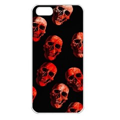 Skulls Red Apple iPhone 5 Seamless Case (White)
