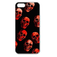 Skulls Red Apple Seamless iPhone 5 Case (Clear)