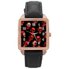 Skulls Red Rose Gold Watches