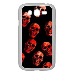 Skulls Red Samsung Galaxy Grand DUOS I9082 Case (White)