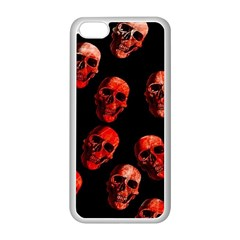 Skulls Red Apple iPhone 5C Seamless Case (White)