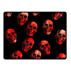 Skulls Red Double Sided Fleece Blanket (Small)