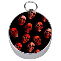 Skulls Red Silver Compasses